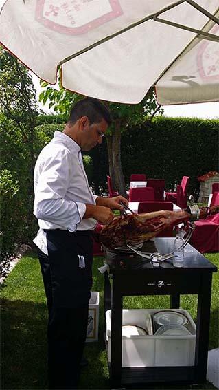 Cortador de jamón Restaurante Mesón Don Pelayo
