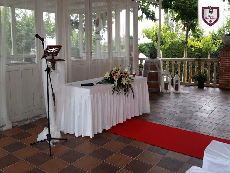 Ceremonia Civil en el exterior   Restaurante Mesón Don Pelayo